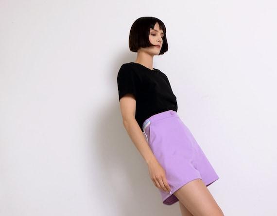 lilac 80s tennis shorts