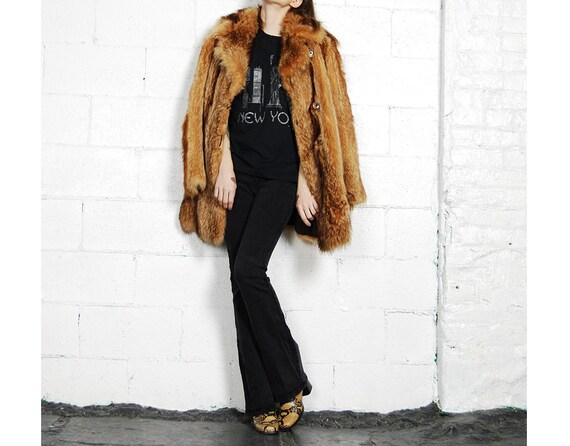 70s fox fur coat