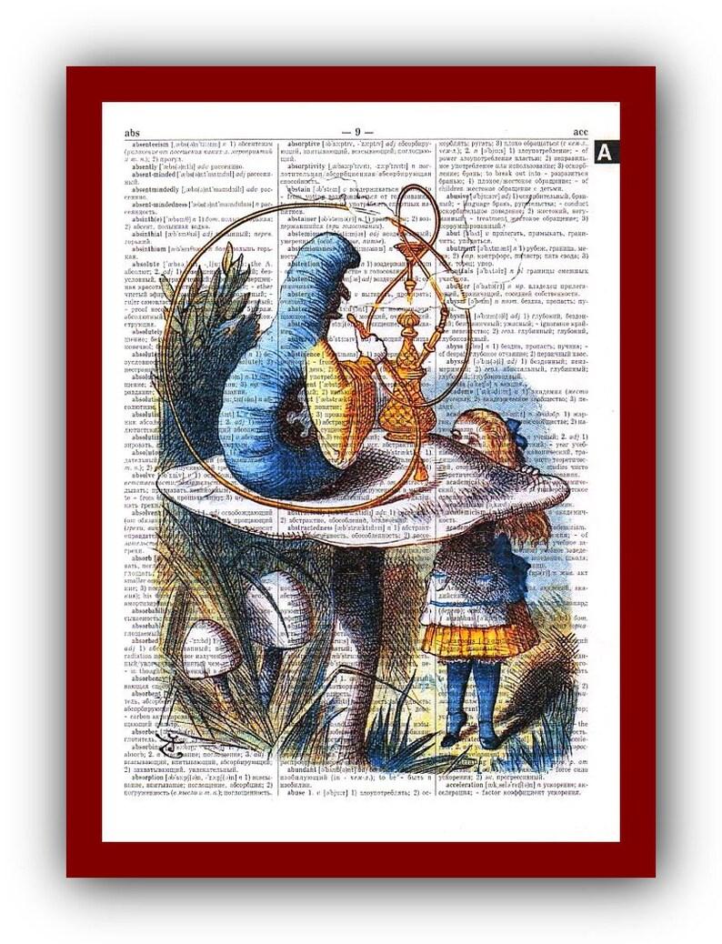 Alice In Wonderland Home Decor Caterpillar Art Print