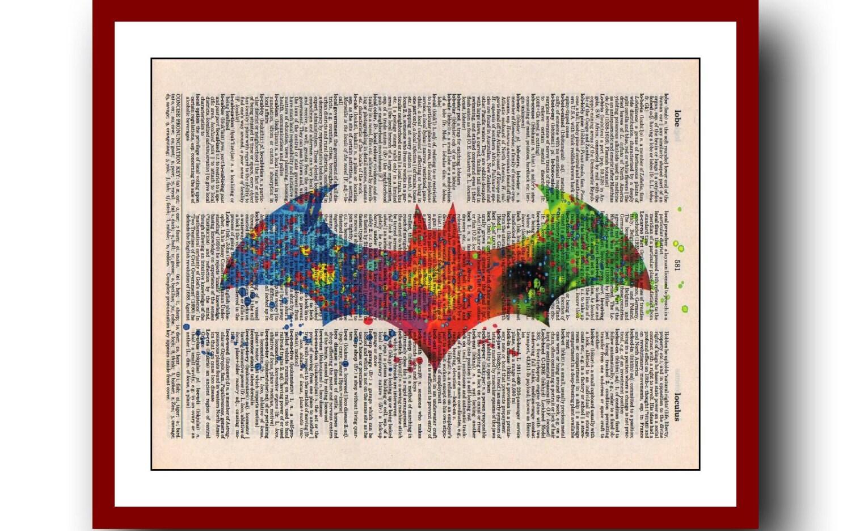 Batman Poster Multicolor Logo Super Hero Print Art Print  6fce821a2b1