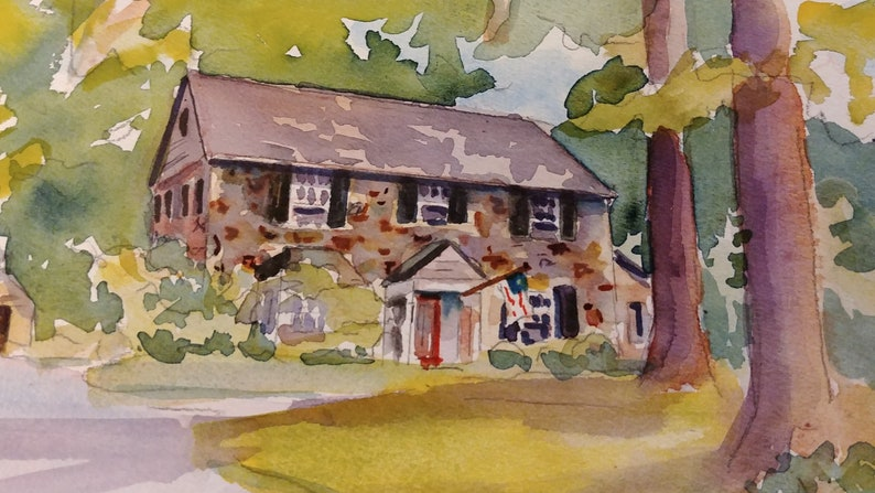A watercolor house portrait makes the perfect housewarming image 2