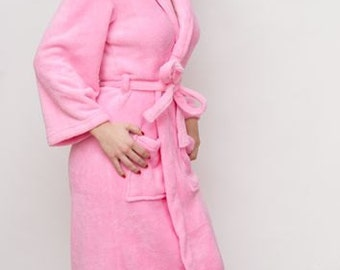 Plush Spa Robe Multiple Colors Available Customized Bridal Robe for Weddings-Wrapped In A Cloud