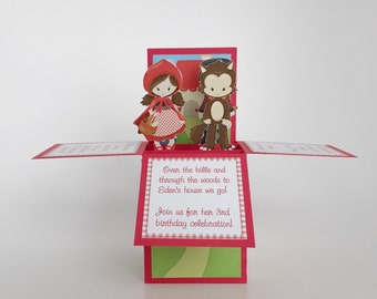 Little Red Riding Hood Birthday Invitations