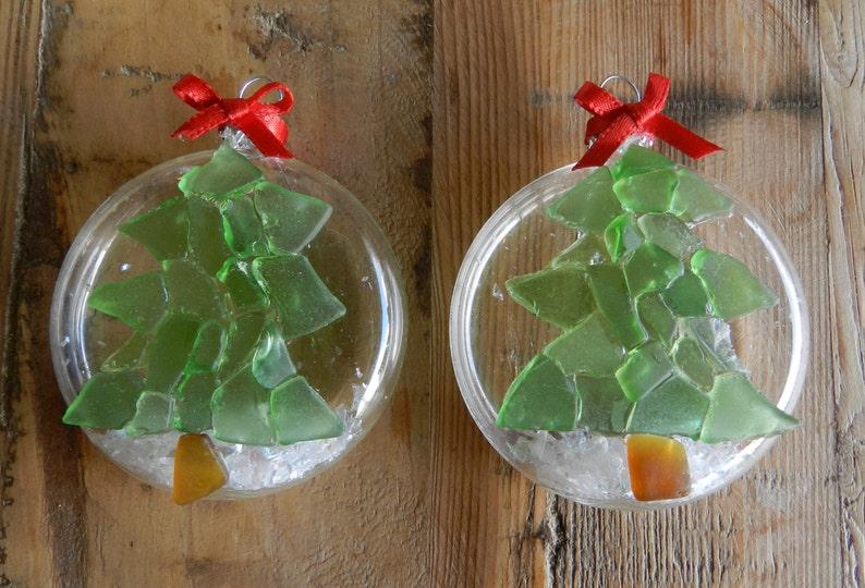 Beach Glass Ornament Mosaic Christmas Tree Hawaiian Etsy
