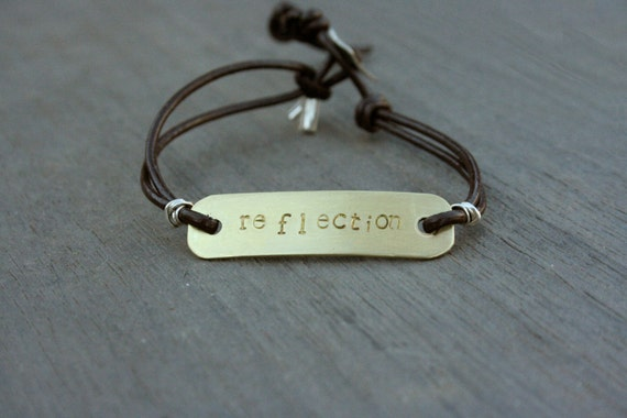Custom Stamped Gold/Silver Leather Wrap Bracelet // Bridesmaid // Gifts for Her // Stocking Stuffer