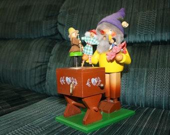 German Steinbach Incense Smoker Toy Maker Puppet Player Music Box