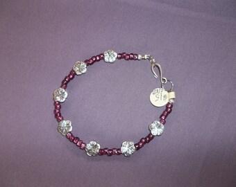 Flower Bracelet or Anklet