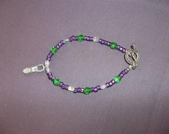 Goddess Bracelet with Glass Beads