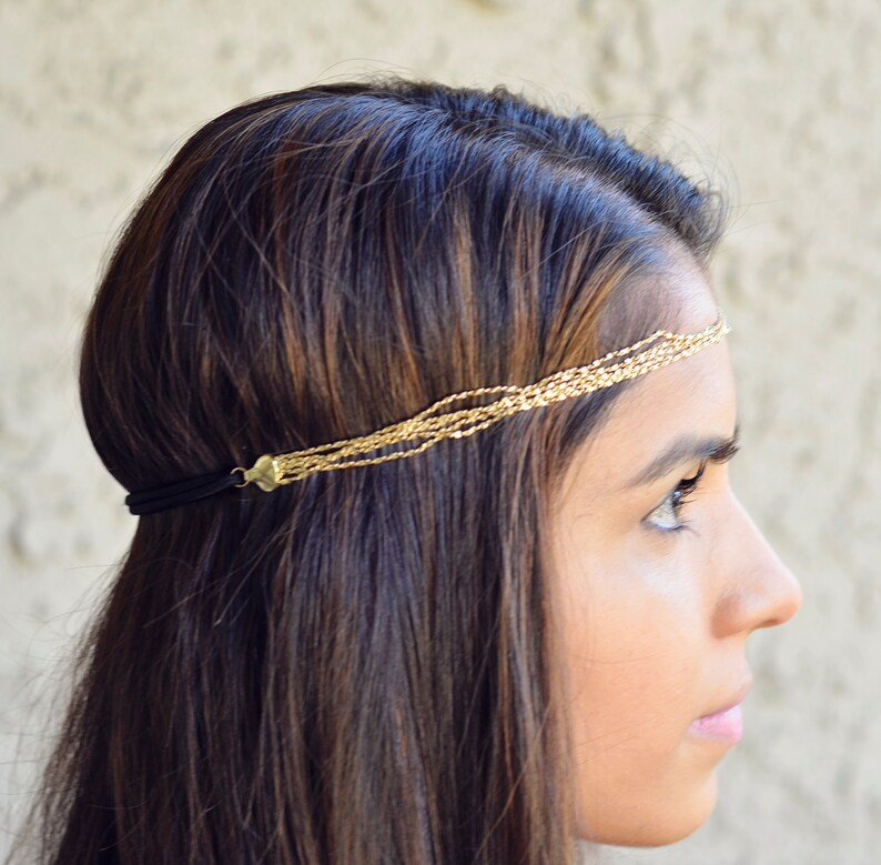 THE ATHENA sale Grecian Greek Goddess Headband Head Elastic image 0