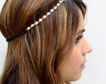 THE KATARA-Gem Crystal Gold Hair Chain Diamond Hair Jewelry Boho Festival Wedding Headpiece head chain Music Festival Spring Summer Headband