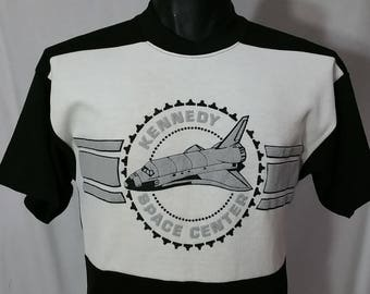 Vintage Kennedy Space Center Space Shuttle Shirt Men's Size S/SMALL 80s 90s NASA Atomic Hipster Rockabilly Deadstock
