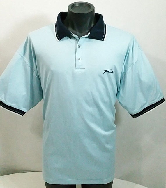 5725a428d Blue FUBU Spellout Golf Polo Shirt Vintage 90s The Collection