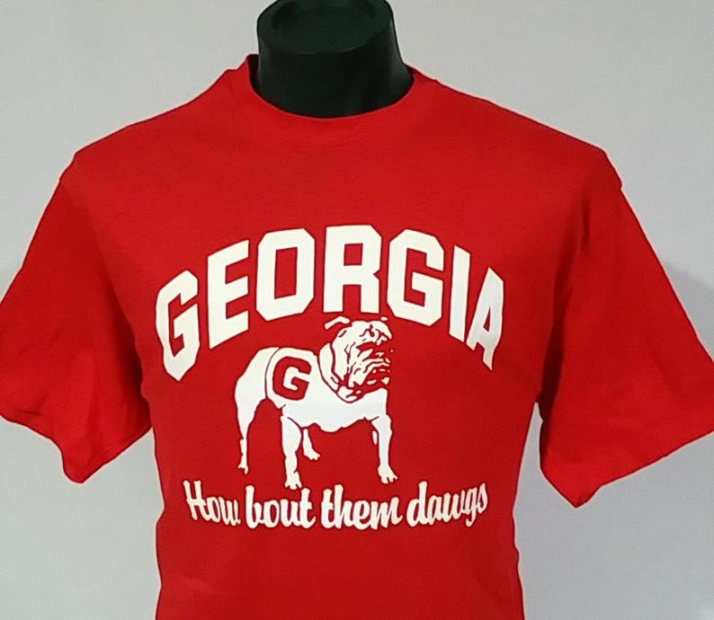 fff7b0f467d Vintage GEORGIA BULLDOG T shirt 70s 80s How bout them
