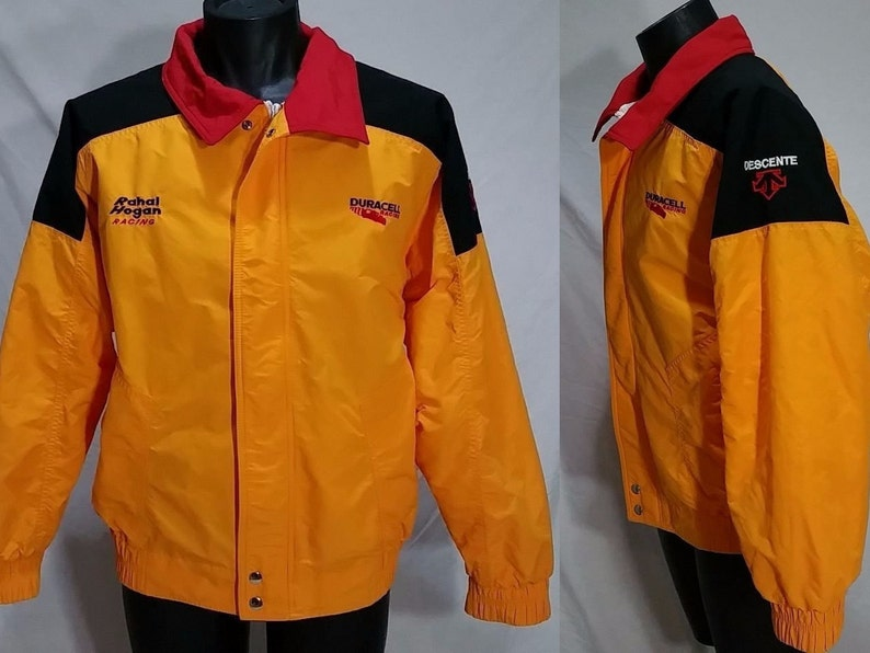 0c978bd04 90s Indy Car DURACELL RAHAL HOGAN Racing Crew Jacket Vintage