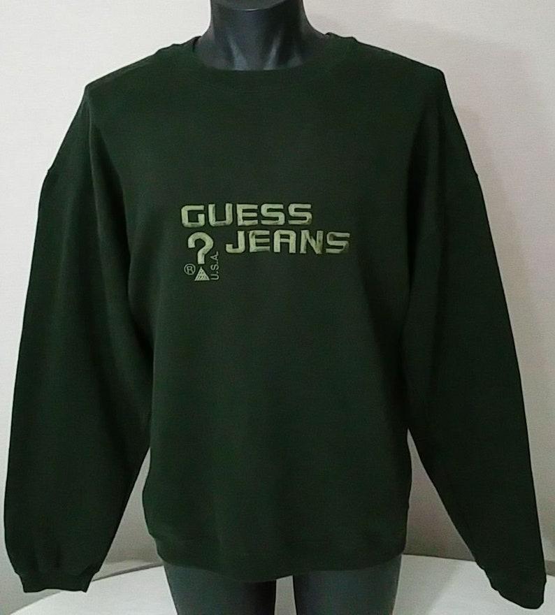 be49b6c5bb44 Vintage 90s Guess Jeans USA Crewneck Sweatshirt Men's Size | Etsy