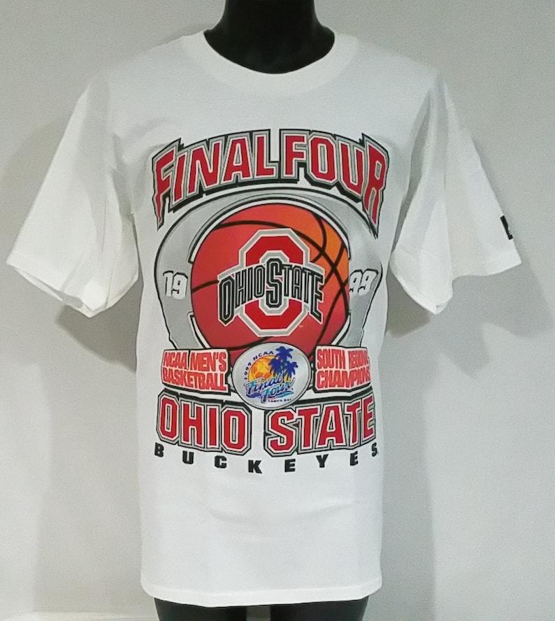 8c1195bf8 Vintage Ohio State Buckeyes Basketball T Shirt Mens Medium