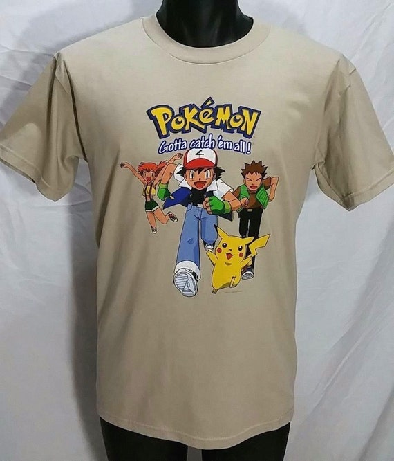 134857568 NOS Vintage Pokemon Gotta Catch Em All T Shirt Kids XL Adult S | Etsy
