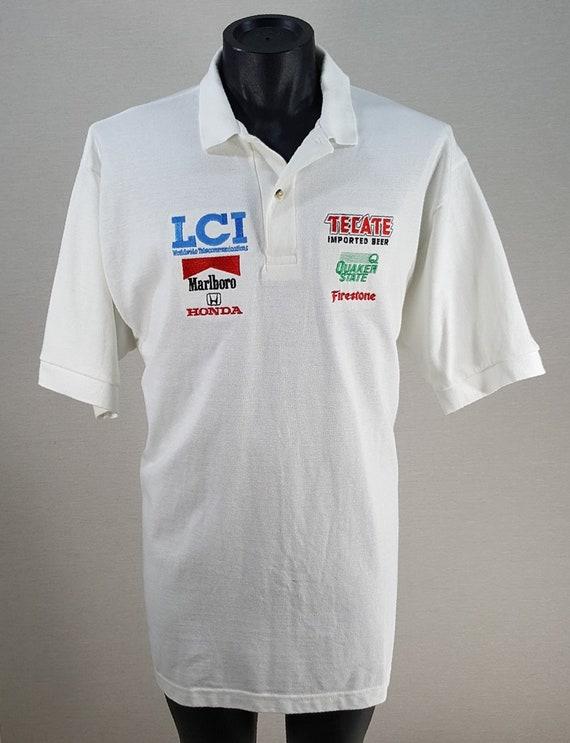 aab02a840 Vintage 90s Indy Car Racing Crew Polo Golf Shirt Men s SZ