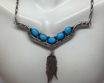 Lapis Sterling Necklace 17 925 Silver Lazuli Vintage Southwestern Jewelry Anniversary Birthday Holiday Christmas Gift Boho Artisan OOAK