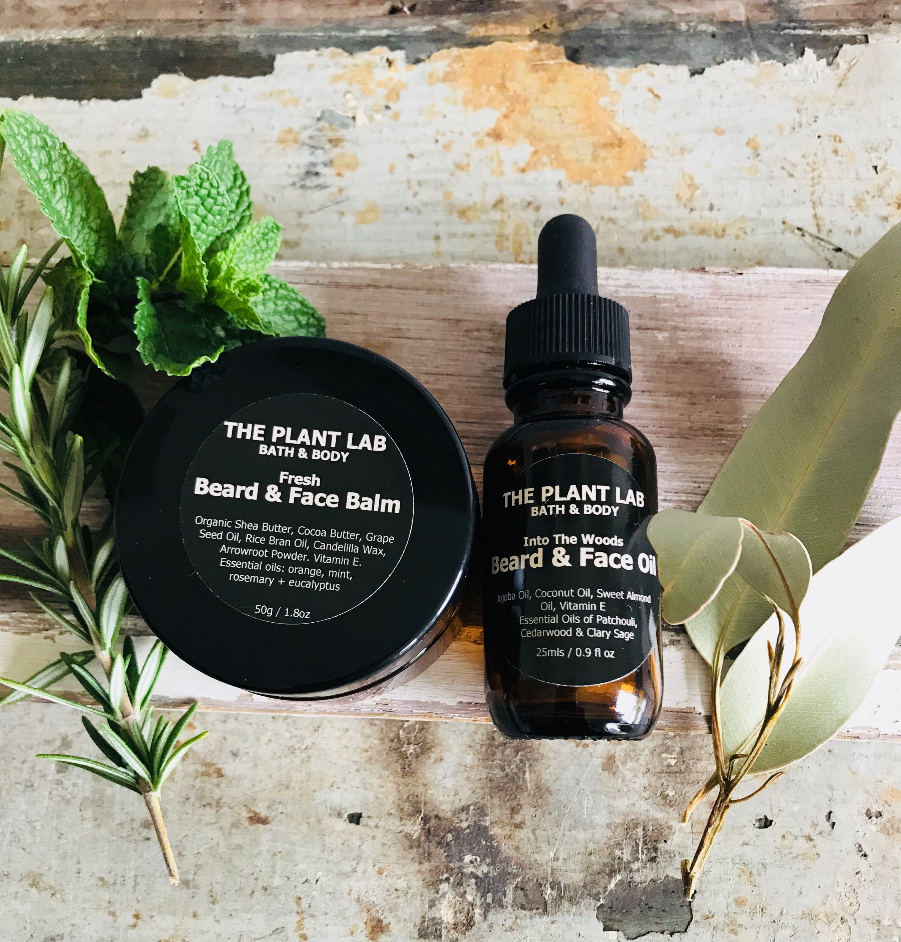 Beard Balm + Beard Oil Gift Set  Men's Skincare  Natural, Plant-Based,  Vegan Skincare  Scented, Unscented  Gift For Him, Fathers Day