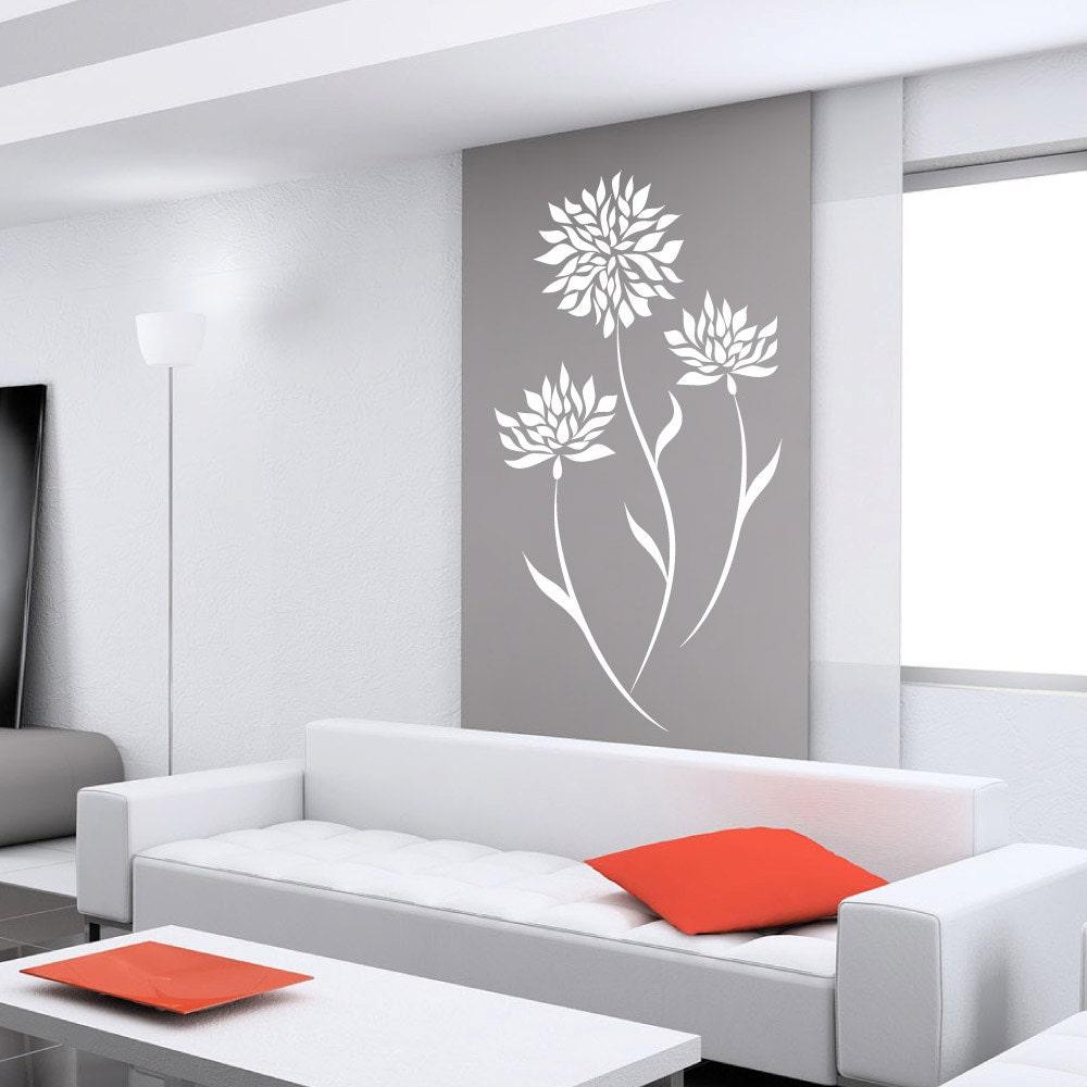 fleur stickers pour murs de stickers pour murs b b. Black Bedroom Furniture Sets. Home Design Ideas