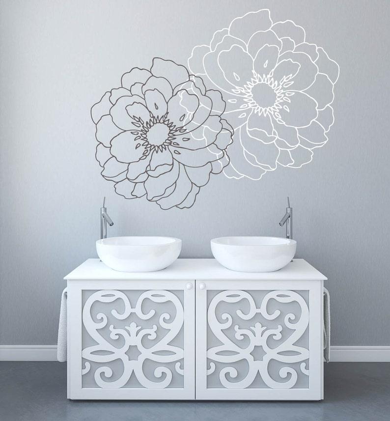 Modern Flower SD 064 Modern Flower Wall Decals for Walls Stickers for Walls  Stylish Wall Stickers for Bedrooms Stick on Wall Art