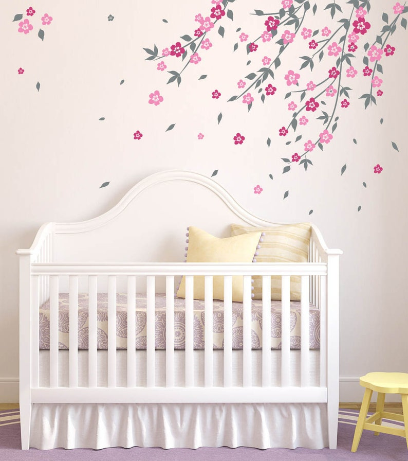 cherry blossom tree wall decal wall decals for nursery decals | etsy