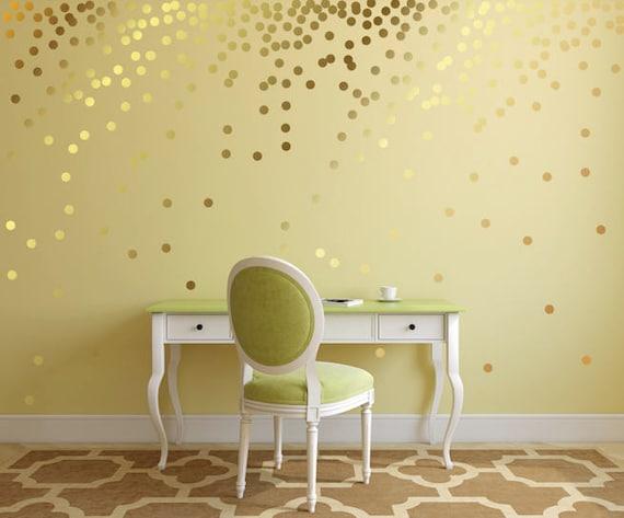gold polka dot decals gold polka dot wall decals wall | etsy