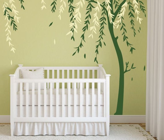 Baby Boy Nursery Ideas Stick on Wall Art Tree Decals for Walls