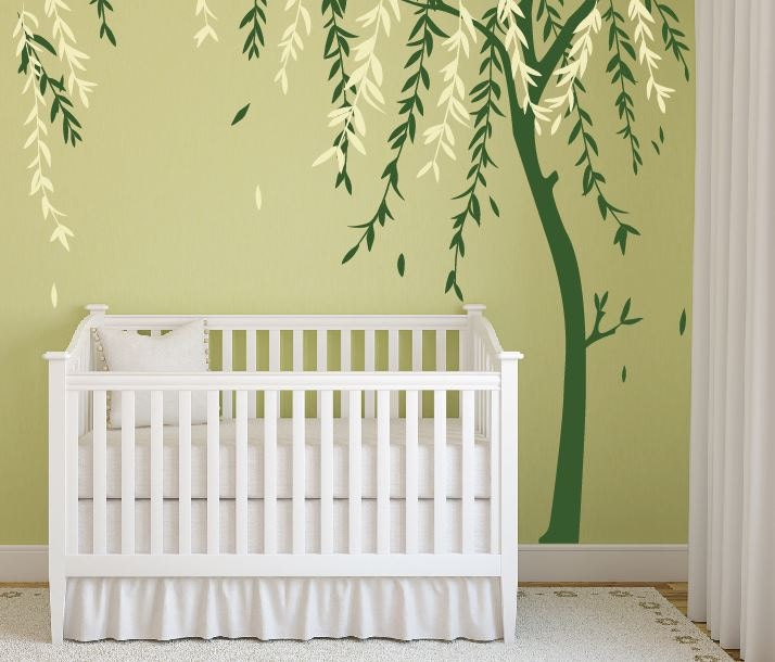 Baby Boy Nursery Ideas Stick On Wall Art Tree Decals For