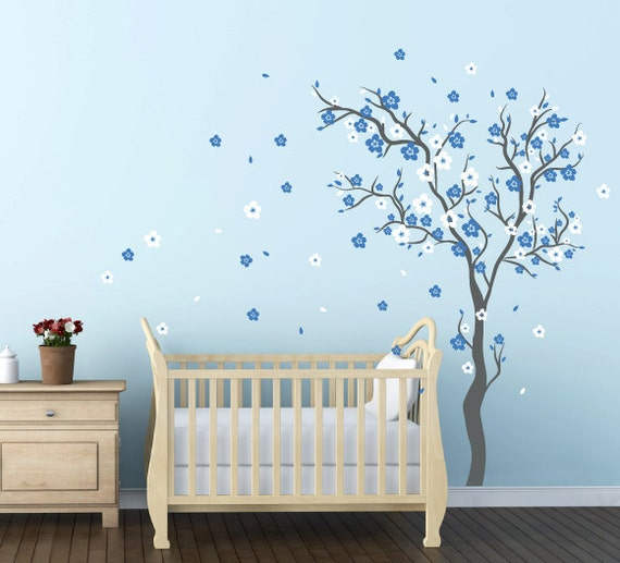 Baby Boy Nursery Ideas Cherry Blossom Wall Decal Wall Sticker Etsy