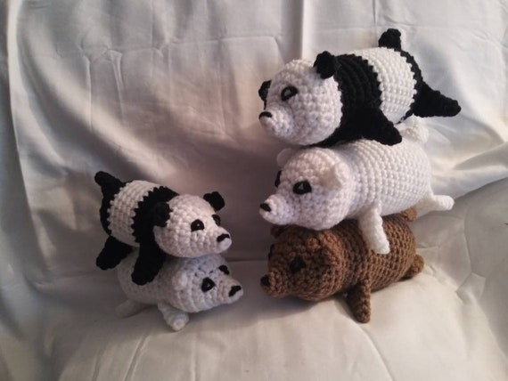 We Bare Bears Squeaker Dog Toy Etsy