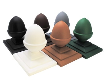 UK MADE. GT0013 Free UK Delivery 1 x Linic Black Acorn Fence Top Finial /& 4 Fence Post Cap