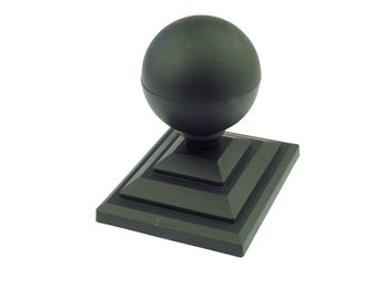 10 x Linic Acorn Top Fence Finial /& 3 Fence Post Cap UK Made. White Rot Proof Free UK Postage GT0012