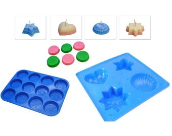 A-Z Alphabet Candle Mould Trays Birthday Cake Letters /& Christmas Design Wax Melt Tart Tray Free UK Postage S7728 Proops Set x 3 Moulds