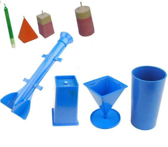 Cylinder Candle Mold Candle Molds Set for Candle Making Sphere Candle Mold Taper Candle Mold Pyramid Candle Mold 4 Different Plastic Molds Set
