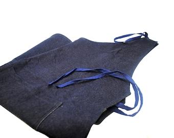 Proops Denim Work Apron with 2 Pockets, Cafe, Restaurant, Workshop, Hobby (J1471). Free UK Postage