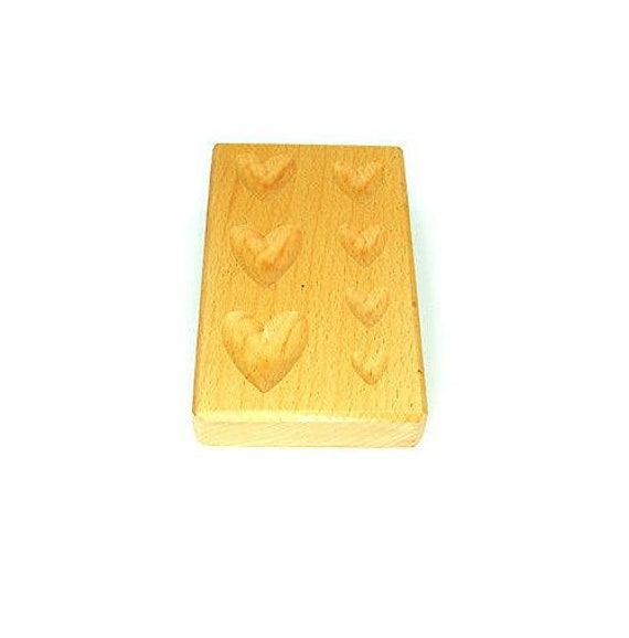 55mm Dapping Block Wood Wooden Holes Lines Doming Forming Jewellers Shaping Tool