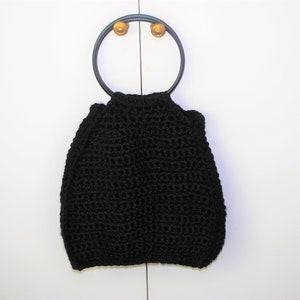 S7854 Sewing Craft Knitting Design 1 Pair Black Plastic /'D/' Shaped Handles