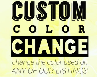 Change the color used on any of our listings