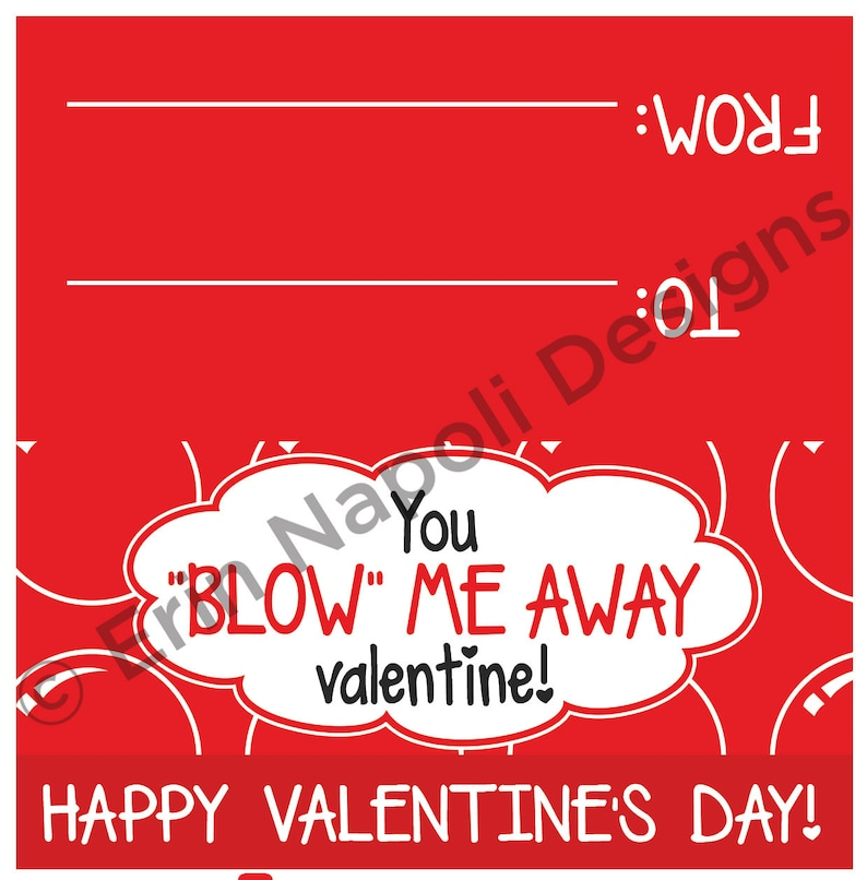 photograph relating to You Blow Me Away Valentine Printable named By yourself \