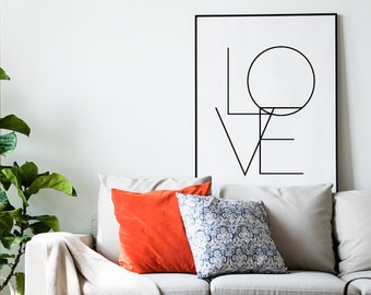 Love Printable, Love Print, Love Poster, Love Art, Love Prints, Digital  Print, Love Wall Print, Bedroom Decor, Living Room Print, Minimalist