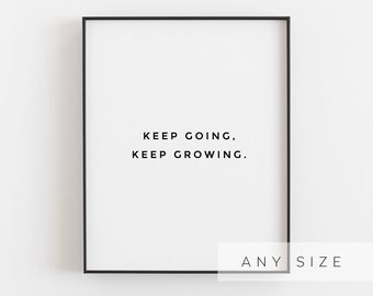 Keep Going Poster Etsy