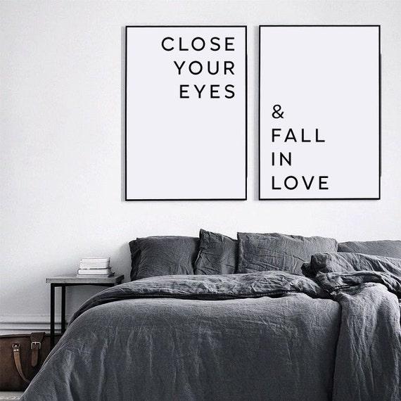 Perfekt Liebe Poster Schlafzimmer Wand Kunst Schließen Sie Die Augen | Etsy
