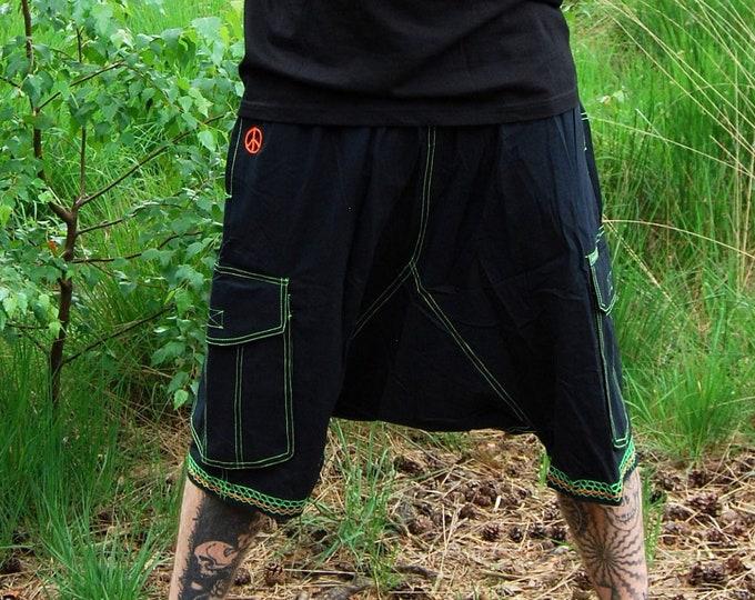 Mens Harem Short Pants UV Blacklight