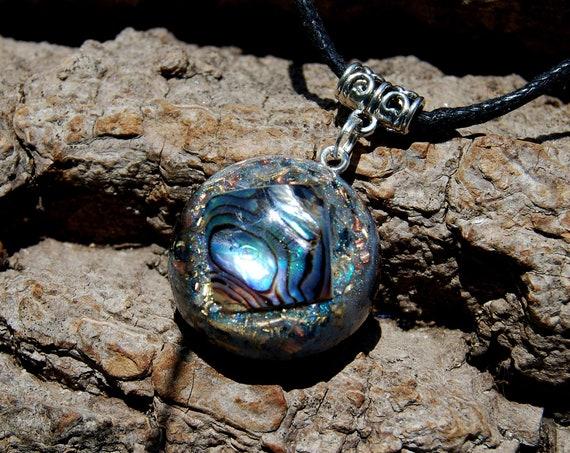 Abalone Orgonite® necklace, Unisex