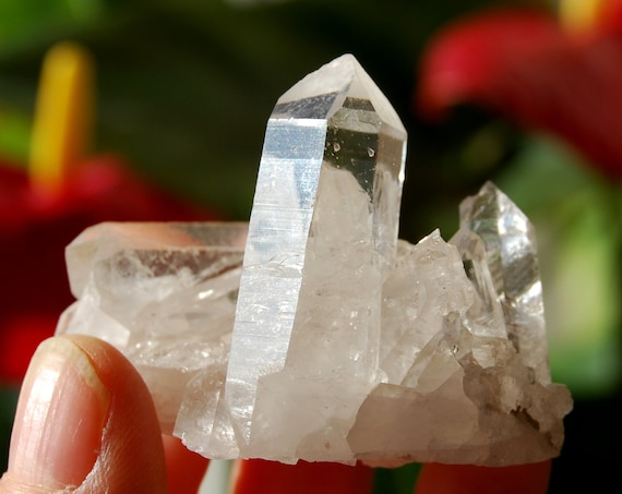 Clear Crystal Cluster from Minas Gerais, 54 grams - natural terminated raw rough