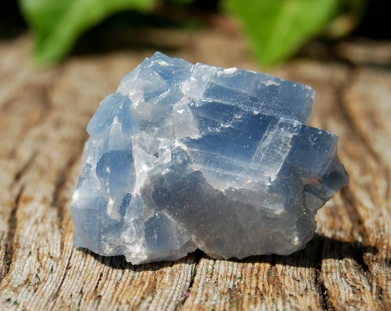 Blue Calcite Cluster Raw Natural Untreated from Madagascar, Calcite Azul, Throat Chakra Healing, Trust, Faith