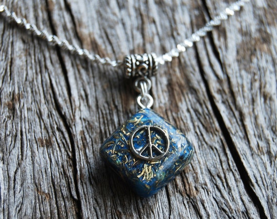 PEACE Orgonite® Pendant Necklace Quartz