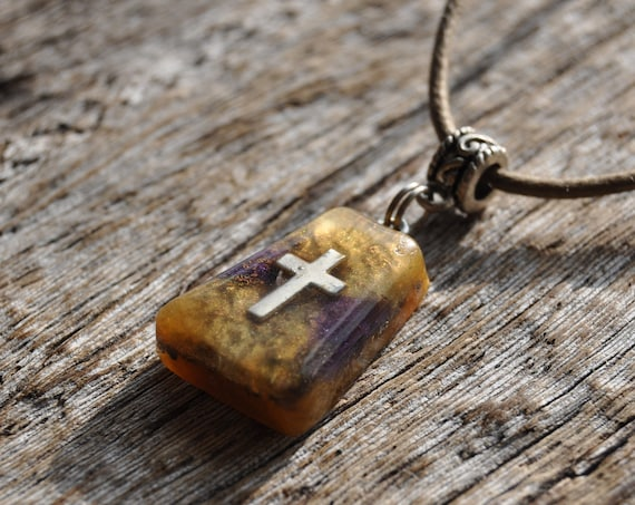 Orgonite® Pendant Necklace with Cross